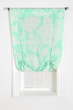 Plum & Bow Sugarplum Lace Draped Shade Curtain from Urban...Love the fabric and style!!