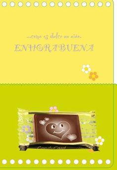 ¿Nació un nuevo elemento en la familia? Ven a conocer nuestras tarjetas con chocolate. ¡Un regalo único para alguien especial! http://www.mysweets4u.com/es/?o=2,95,151,0,0,0