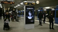 Apotek, a pharmacy brand, outfitted subway platform ads in Stockholm with ultra-sonic sensors that discerned when a train was coming. Guerilla Marketing, Street Marketing, Experiential Marketing, Marketing Videos, Digital Signage, U Bahn, Hair Raising, Creative Advertising, Advertising Design