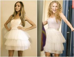 Dress on left would be cute for a bridal shower!