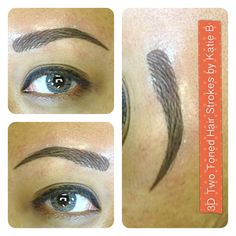 { 3D Two Toned High Def Hair Strokes by Katie B }    This is all the new rage friends. Many are calling it high definition brows! I hope to see you in my new salon in Costa Mesa soon! Have amazing, perfect brows when you wake up every morning!!!! No more filling them in and trying to get them to look even.     These are freshly done brows. Will fade by 30% in 5 days.    Bookings: info@katiebcosmetics.com  FAQ: foreverkatieb.com