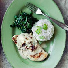 Kurczak ze szpinakiem i gorgonzolą Vegan Recipes, Cooking Recipes, Vegan Food, Good Food, Yummy Food, Fast Dinners, Turkey Dishes, Dinner Recipes, Dinner Ideas