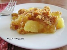 Hot Pineapple Casserole. Pineapple and cheese may sound disgusting... Don't judge unless you've tried it.