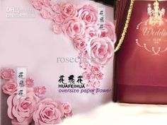 Oversize Paper Flowers Wedding Background Decorations Large Flowers Pink Rose a Set Online with $417.81on Rosecherry's Store   DHgate.com