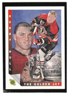 Bobby Hull # 2 - 1991-92 Upper Deck Ultimate Original Six Hockey - Box Bottom Insert Series