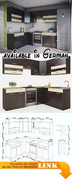 B073VH73B6  NEU komplette Küche MOHITO 260 cm Lärche Sibia matt