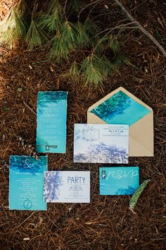 camp inspired wedding invitations, photo by Made to Be Mine http://ruffledblog.com/chicago-glamping-wedding-ideas #weddinginvitations #stationery