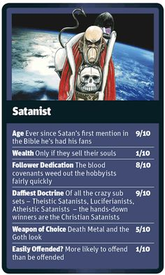 God Trumps Satanist card