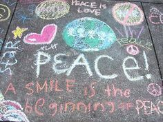 CHALK4PEACE a global peace movement that has spread coast to coast across the United States, to Cape Town, South Africa and in places in Europe. CHALK4PEACE is a creative presentation for young artists of all ages utilizing the theme of Peace.