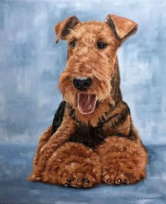Art by Andrew Schofield  Order an oil painting of your pet now at www.petsinportrait.com #OilPaintingDog