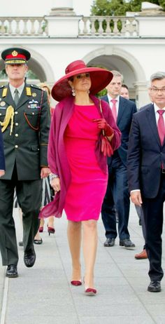 MYROYALS & HOLLYWOOD FASHİON-Dutch State Visit to Poland, June 24, 2014-Queen Maxima