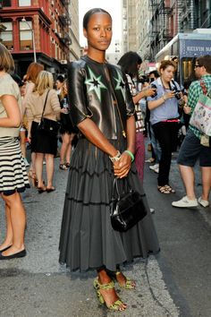 STREET STYLE: Shala Monroque at The Opening Ceremony Block Party