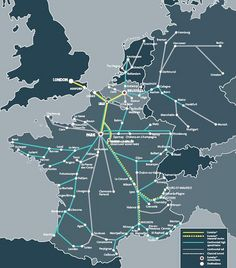 Map of Eurostar & connecting high-speed train routes | Flickr - Photo Sharing!