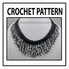 Crochet Scalloped Beaded Necklace Pattern by ljeansjewelry on Etsy