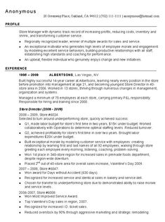 District manager resume summary