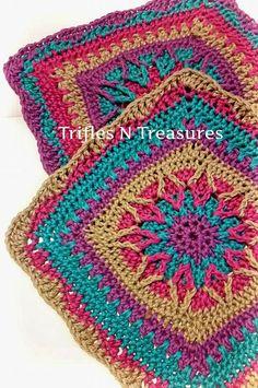 Ravelry: Starburst Square pattern by Tera Kulling