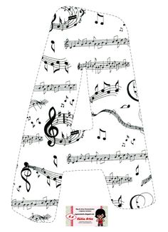 Alphabet with crazy staves. Music Themed Parties, Alphabet Templates, Banner Letters, Music Activities, Music Classroom, Alphabet And Numbers, Teaching Music, Music Lessons, Music Education