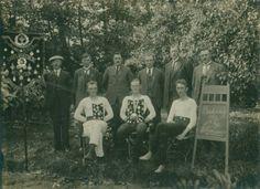De kaatsers van Witmarsum, winnaars van de Bondspartij 1923.