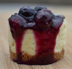 Blueberry Mini White Chocolate Cheesecakes (2)