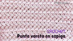 Crochet / Muster Punto vareta en espiga o Herringbones double crochet stitch Muster Crochet Double espiga Herringbones Punto Stitch Strickohrwärmer Muster frei vareta Crochet Motifs, Crochet Stitches Patterns, Knitting Stitches, Free Crochet, Stitch Patterns, Knitting Patterns, Stitch Crochet, Cross Stitches, Loom Patterns