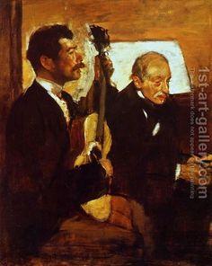 Degas' Father Listening to Lorenzo Pagans by Edgar Degas Edgar Degas, Pierre Auguste Renoir, Edouard Manet, Degas Paintings, Art Ancien, Post Impressionism, Oil Painting Reproductions, Aerosmith, Arctic Monkeys