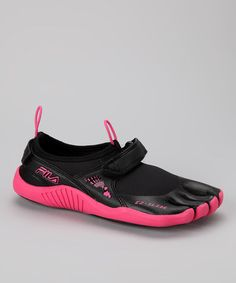 41896fa29c FILA Black   Hot Pink Skele-Toes Running Shoe - Women