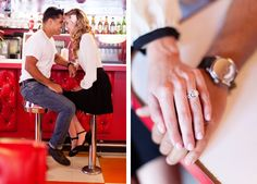 sweetly retro engagement session by Sposto Photography.