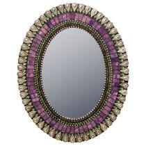 Georgous glass tile & bead mosaic mirror