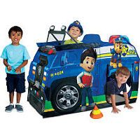 nickelodeon paw patrol play tent chases police cruiser