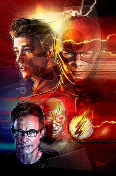 I like how they use the techniques to show the Flash and the person behind the Flash costume. Also, it shows reverse Flash. Flash Tv, The Flash Art, The Cw The Flash, Flash Barry Allen, Flash Wallpaper, Reverse Flash, The Flash Grant Gustin, Snowbarry, Dc Tv Shows