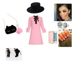 """""""Pretty in pink"""" by irissalmeron on Polyvore featuring Gucci, Carvela, Chamilia and WithChic"""