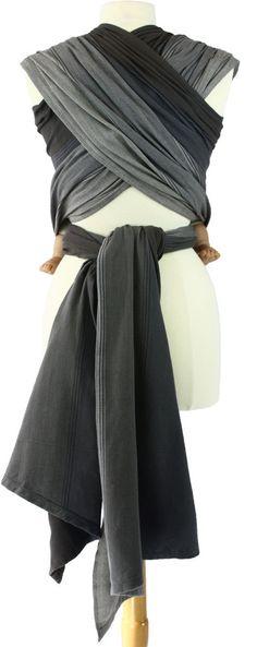 Girasol Woven Wrap Grey Pinstripe
