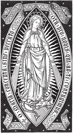O Mary conceived without sin, pray for us who have recourse to thee. Apparition of Our Lady to St. Blessed Mother Mary, Divine Mother, Blessed Virgin Mary, Virgin Mary Art, Catholic Missal, Catholic Art, Religious Icons, Religious Art, Immaculée Conception