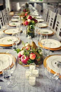 centerpieces with fresh fruit