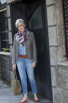 trends come and go, but true style is ageless — <outfit post> tomboy chic: i decided that Over 60 Fashion, Over 50 Womens Fashion, Fashion Over 50, Fashion Women, High Fashion, Tomboy Chic, Casual Winter Outfits, Chic Outfits, Fashion Outfits