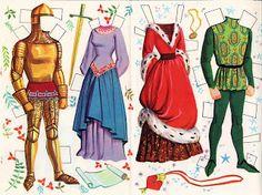 Sleeping Beauty: Disney paper dolls, Authorized Edition, Whitman | Bonecas de Papel: A Bela Adormecida