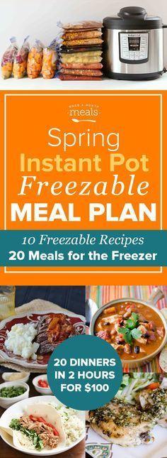 Instant Pot freezeable meals