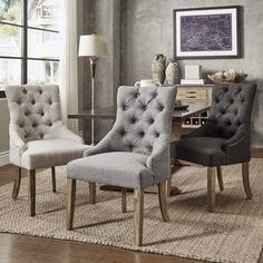 Benchwright Button Tufts Wingback Hostess Chairs (Set of 2) by iNSPIRE Q Artisan | Overstock.com Shopping - The Best Deals on Dining Chairs