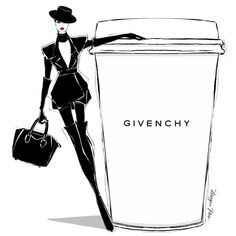 Today's coffee is in honor of Mr Givenchy. His beautiful work will be remembered forever. @givenchyofficial #MeganHessCoffeeGirls