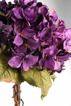 Hydrangea Silk Bouquet Purple Flowers