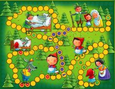 Červená Karkulka - desková hra s pohádkou + CD Games For Kids, Games To Play, Activities For Kids, Preschool Board Games, Math Games, Kindergarten, Printable Board Games, Lego Duplo, Table Games