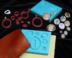 Working with Cabochon and Settings mold by Claylady43, via Flickr