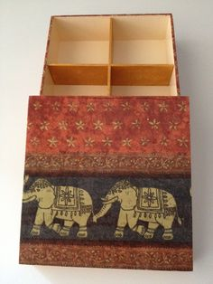 Caja en decoupage con servilleta  Decoupage box  Caixa em decoupage com guardanapo