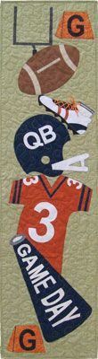 """Thankfully Sew - Game Day; For my father-in-law's """"man cave,"""" in Browns' colors of course :)"""