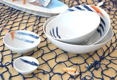 Coppe Passepartout, decoro Sensazioni di mare; idea  #mare, tavola casa #estate   www.ancap.it