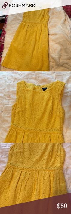 Selling this A bright yellow J.Crew dress on Poshmark! My username is: kelseyd195. #shopmycloset #poshmark #fashion #shopping #style #forsale #J. Crew #Dresses & Skirts