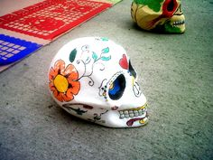 Calavera floreada