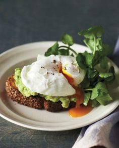 Sesame Toasts with Poached Eggs and Avocado Recipe