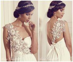 Anna Campbell Wedding Dress || Gossamer Collection || Illusion Back || Wedding Dress || As seen on The Coordinated Bride Wedding Blog