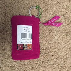 Zip ID Case Brand New! Smoke and Pet Free :) Vera Bradley Accessories Key & Card Holders
